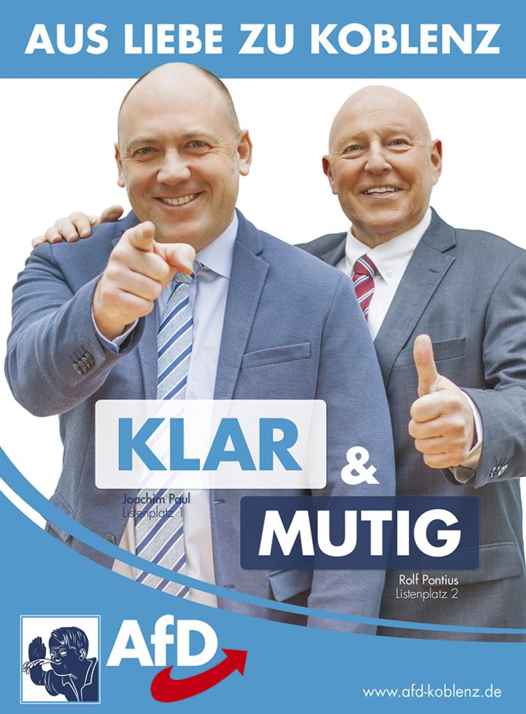 Klar und mutig - unser Kommunalwahlkampfplakat