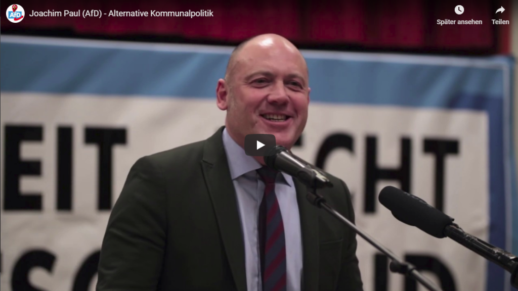 GJoachim Paul (MdL) spricht über Kommunalpolitik